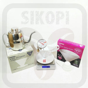 Paket Seduh Hario 02  ( with Scale and Thermometer)
