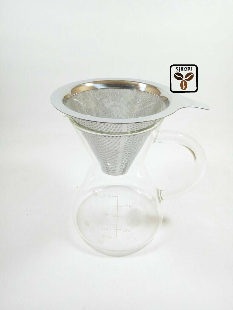 Dripper Metal Set ( with Glass Server 700ml)