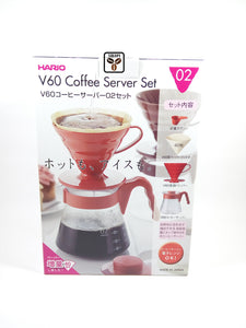 Hario V60 Coffee Server Set + Kettle Leher Angsa 450ml