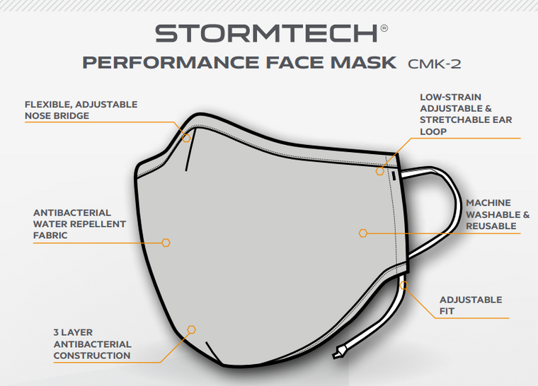 Stormtech CMK-2 Performance Face mask $5.95 each ( minimum 50)
