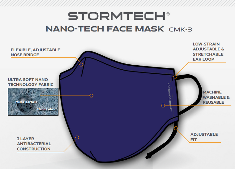 Stormtech CMK-3 Nano Tech face mask $7.20 each (minimum 50)