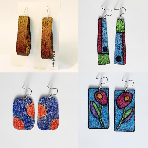 Traditional Arts Fair Workshop– Copper and coloured pencil Earrings