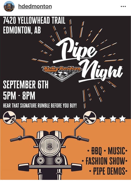 "Harley-Davidson Edmonton ""Pipe Night"" Sept.6th!"