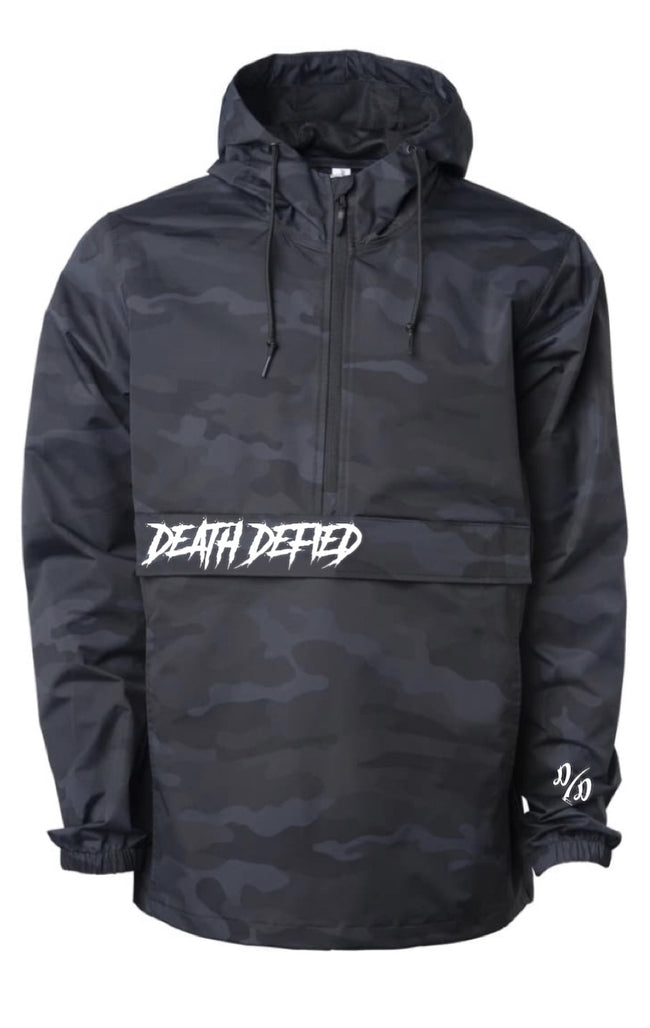 Black camo anorak jacket