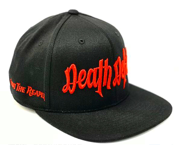 Red on Black Snapback