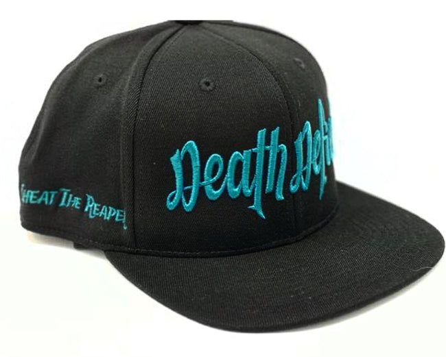 Teal on Black Snapback