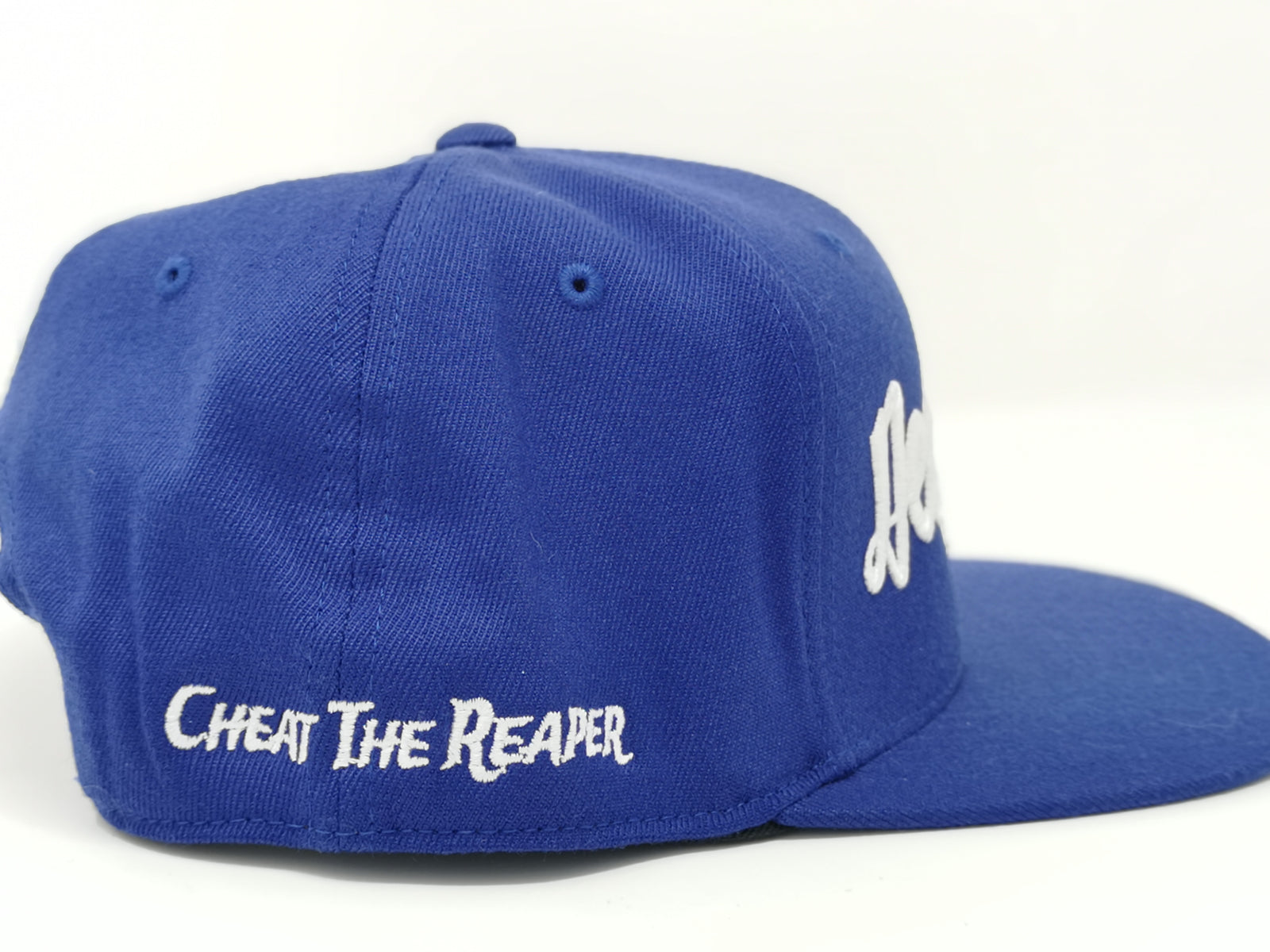 White on Blue Snapback