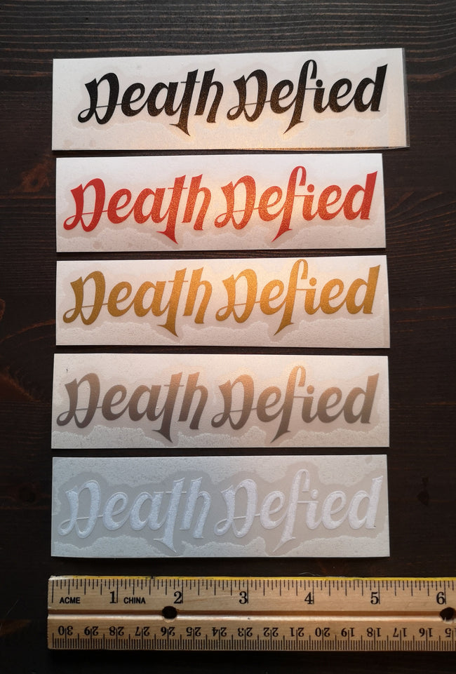 Death Defied decals
