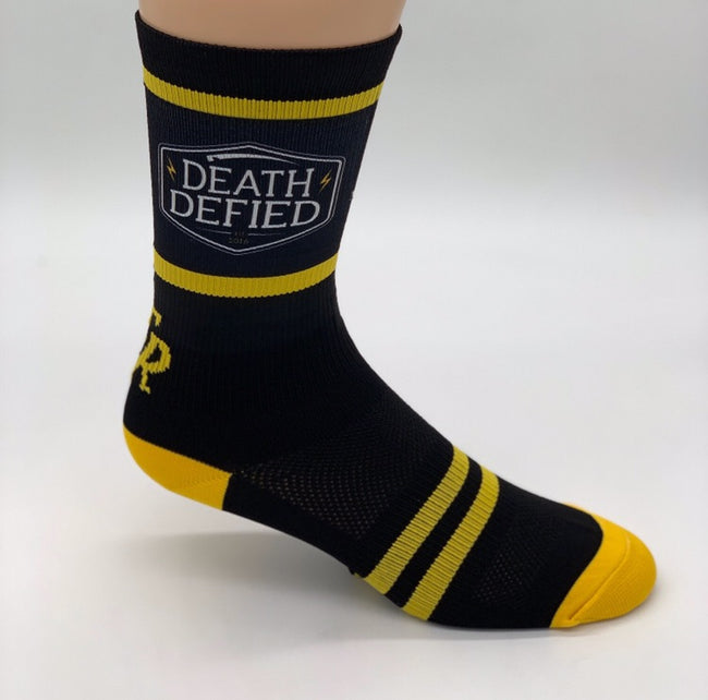 Yellow/Black Crew Socks