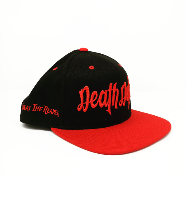 Two Tone Red and Black Snapback