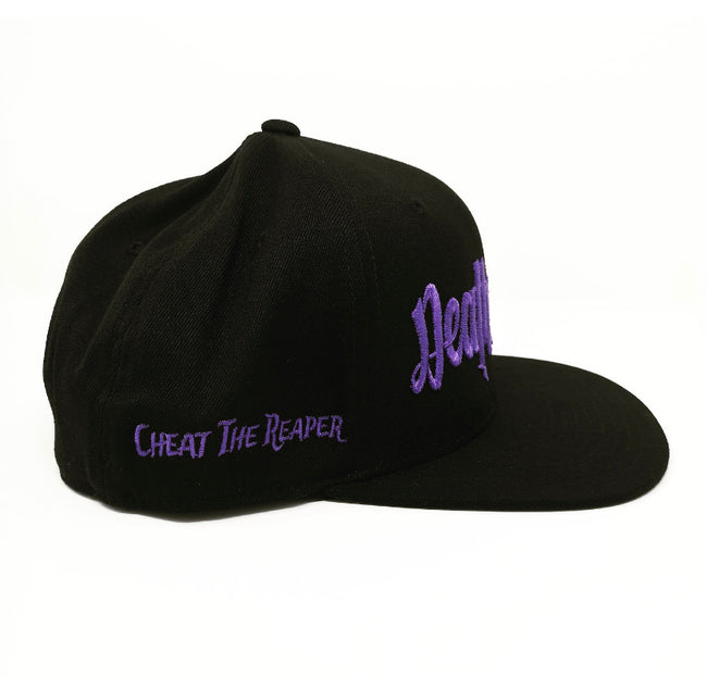 Purple on Black Snapback