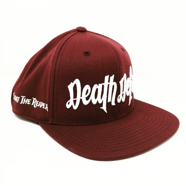 White on Maroon Snapback