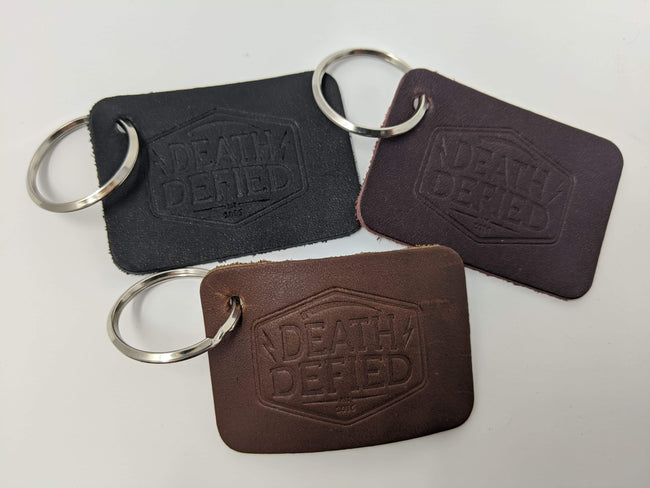 Leather key tags
