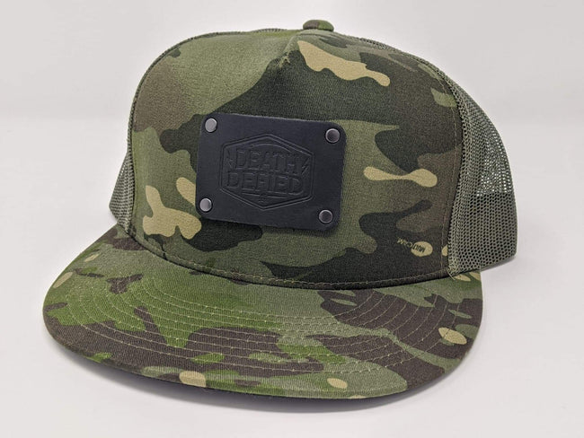 Green Camo mesh back hats