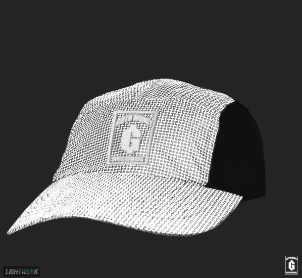 GOTH MONEY x LIGHTWORK Black Reflective 'Goth Money Skate Team' Cap