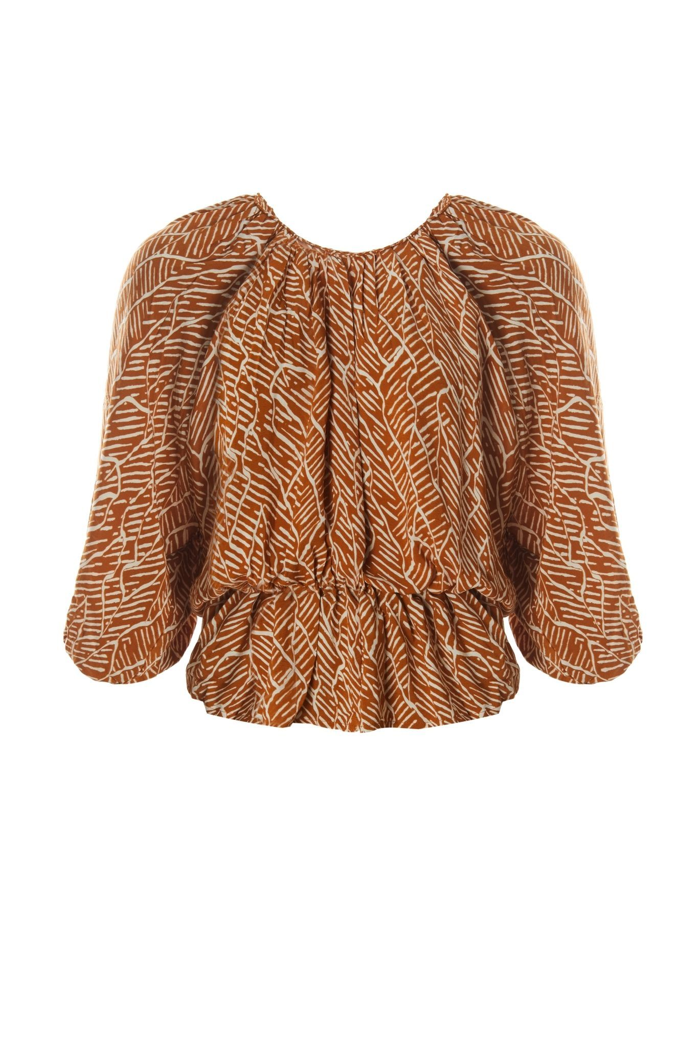 Yali Top - Tribal Brown