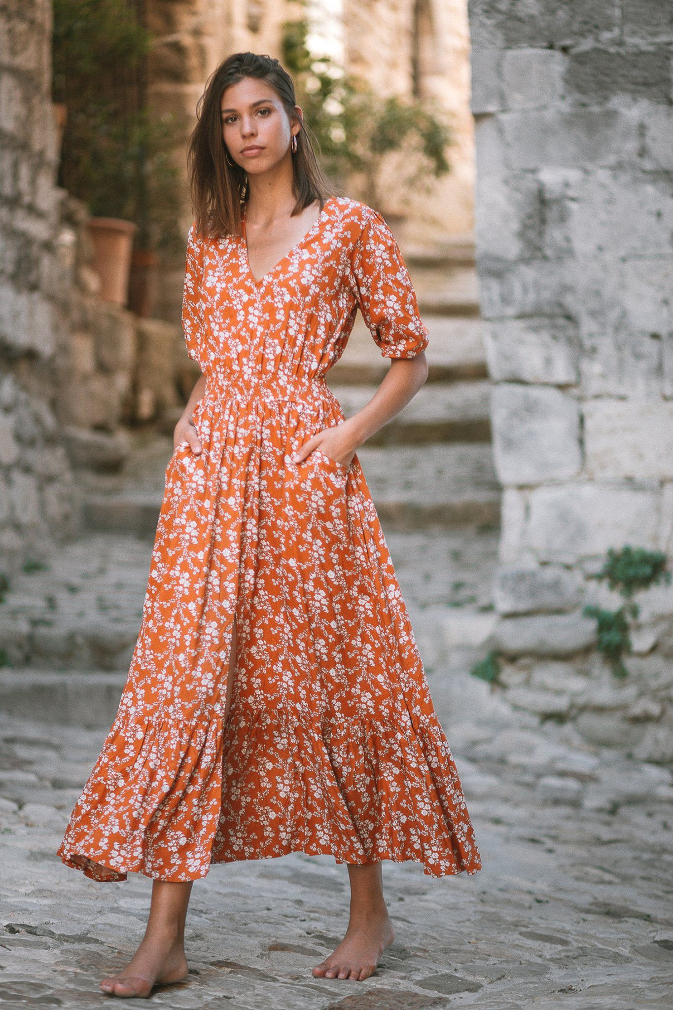 Laetizia Maxi Dress - Poppy Ocre