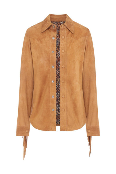 Collins camel leather Jacket - Poppyfield the Label