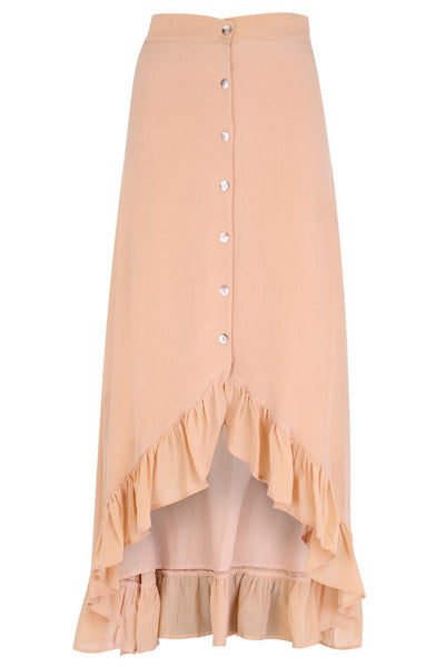Zola - Silk Skirt Beige - Poppyfield the Label