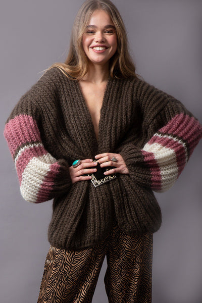 Malo Cardigan - Brown - Poppyfield the Label