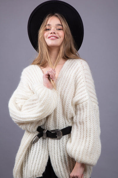 Malo Cardigan - Off White - Poppyfield the Label