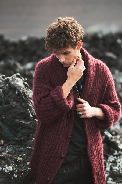 Samoa Cardigan - Dark Red - Poppyfield the Label