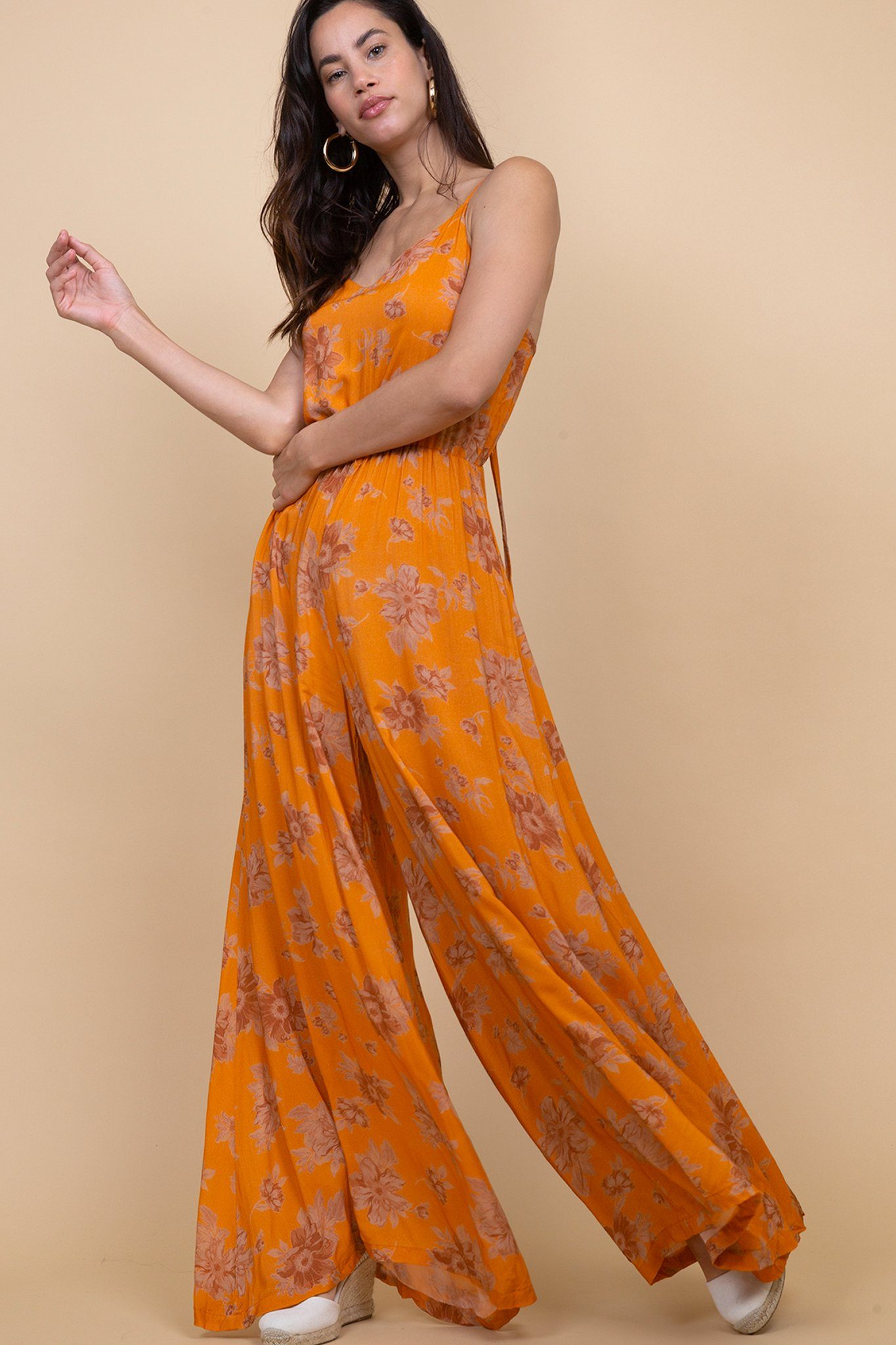 Ella Jumpsuit - Fadded Floral Sunset - Poppyfield the Label