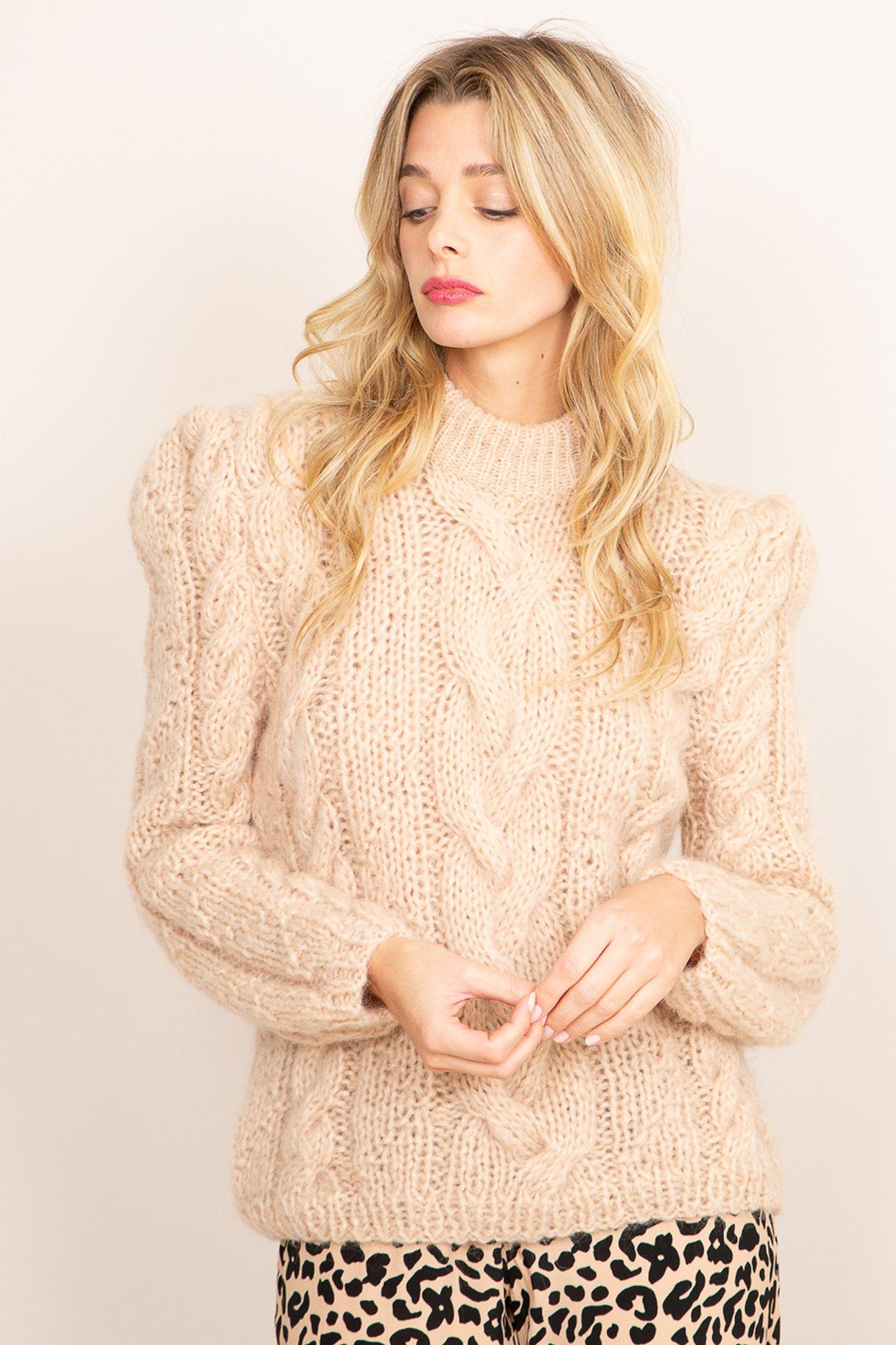 Lucia Sweater - Beige, [product_type]- Poppy Field the label