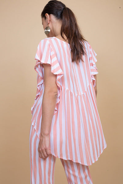 Galle Top - Pink Stripes - Poppyfield the Label