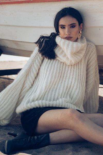 Xena Sweater - Off White - Poppyfield the Label