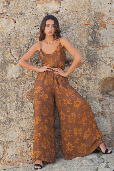 Ella Jumpsuit - Fadded Floral City - Poppyfield the Label
