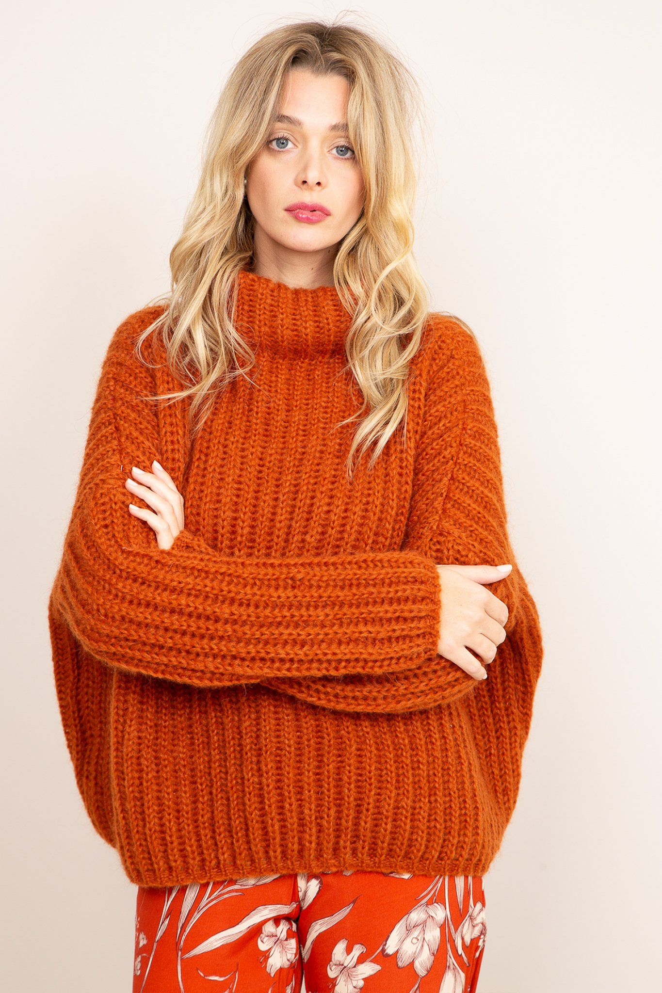 Lilou Sweater - Orange, [product_type]- Poppy Field the label