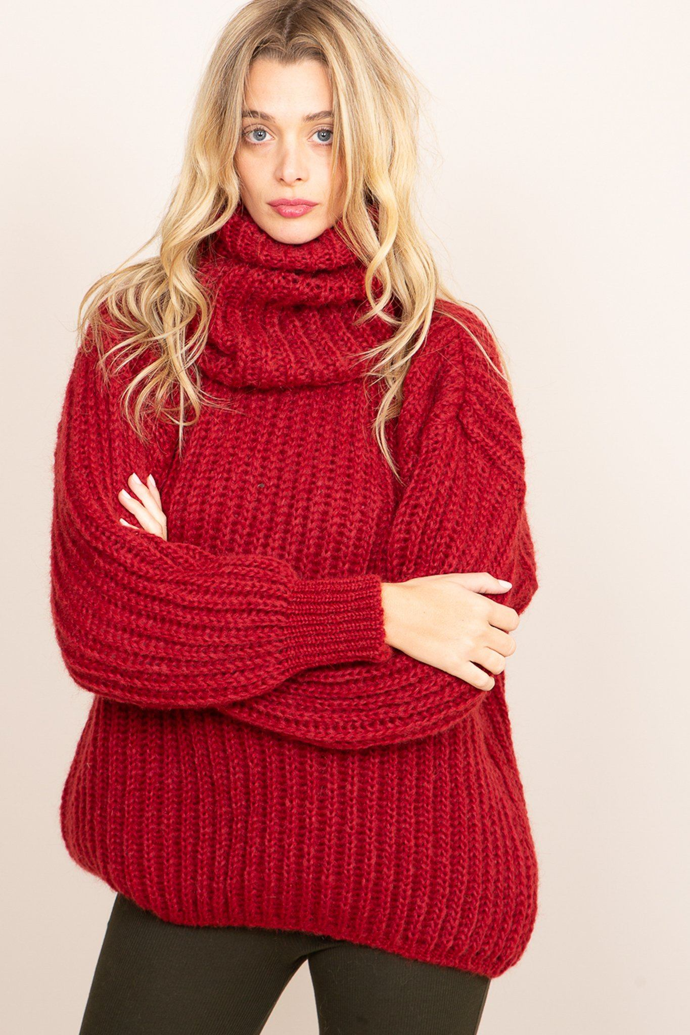 Annette Sweater - Red, [product_type]- Poppy Field the label