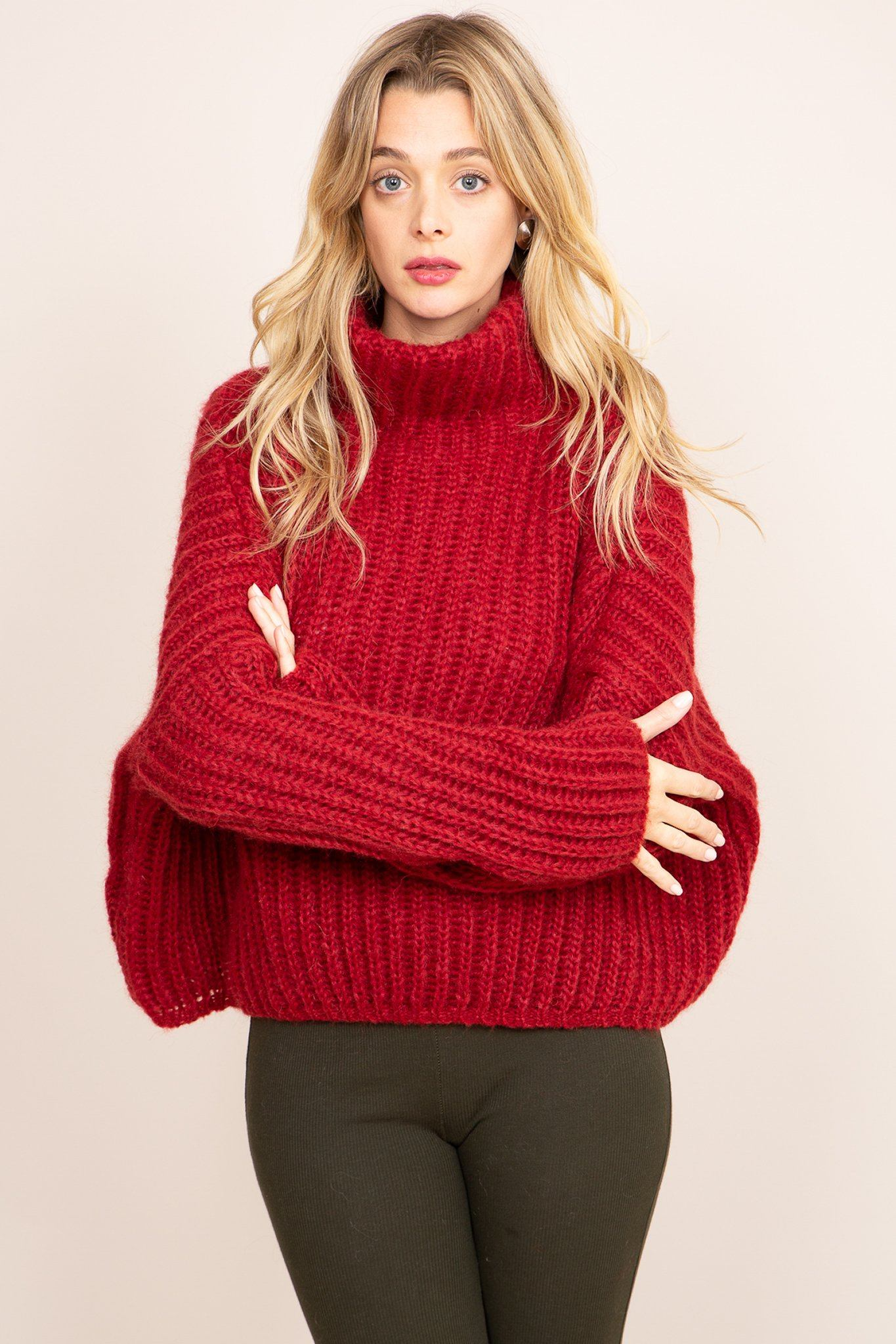 Lilou Sweater - Red, [product_type]- Poppy Field the label