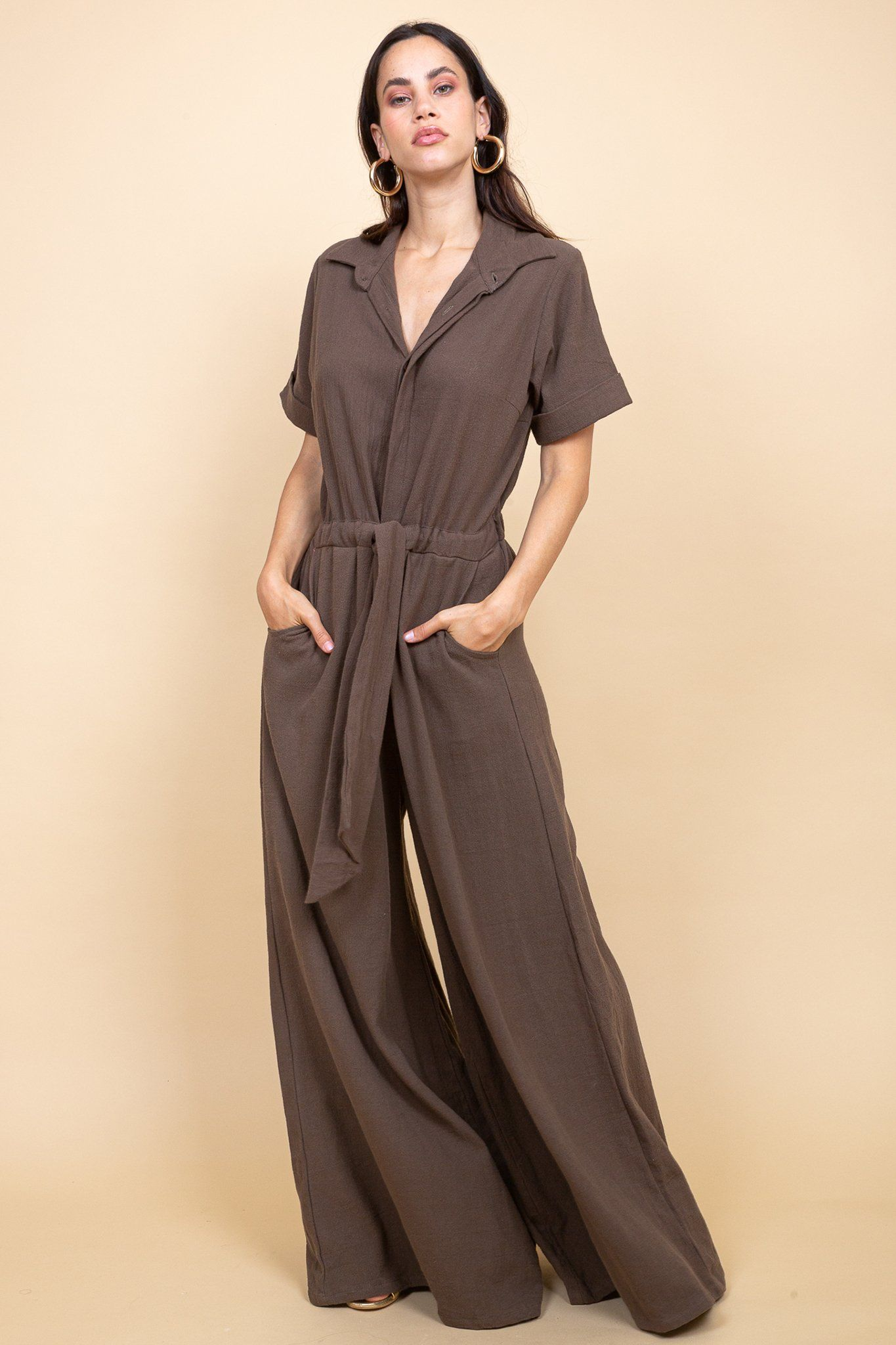 Mumbai Jumpsuit - Toffee - Poppyfield the Label