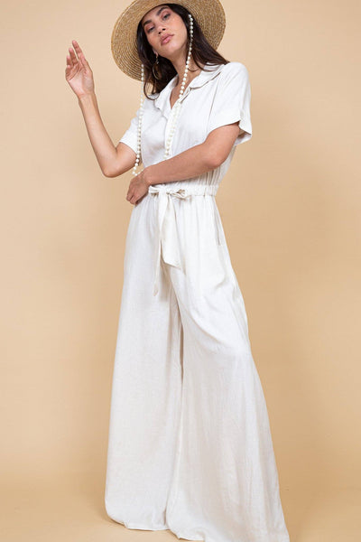 Mumbai Jumpsuit - Natural - Poppyfield the Label