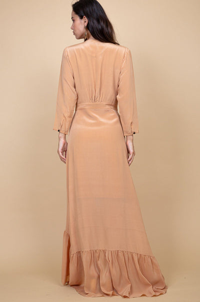 Pondicherry Silk Dress - Russet - Poppyfield the Label