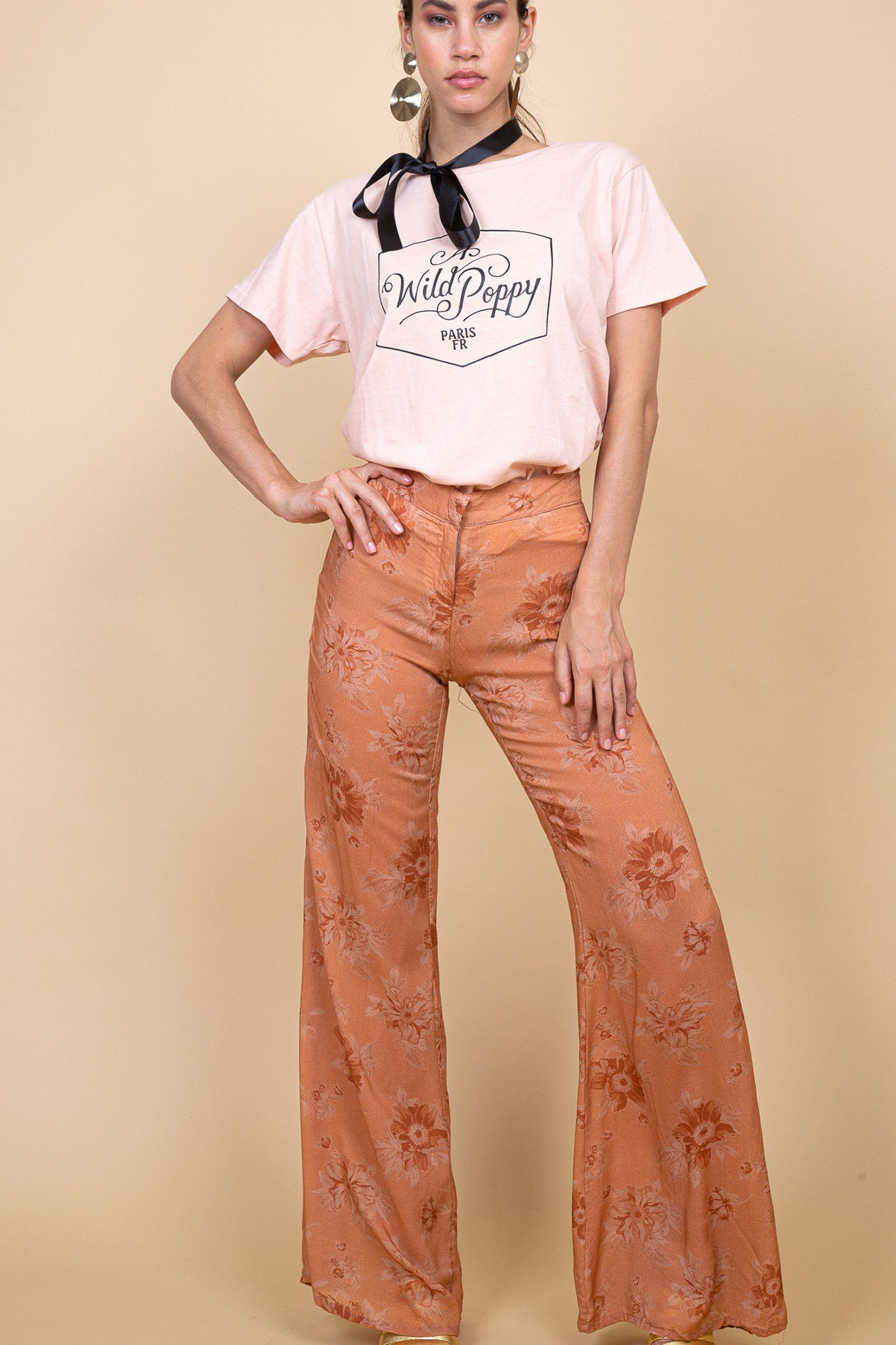 Kerala Pant - Fadded Floral Blush - Poppy Field the label