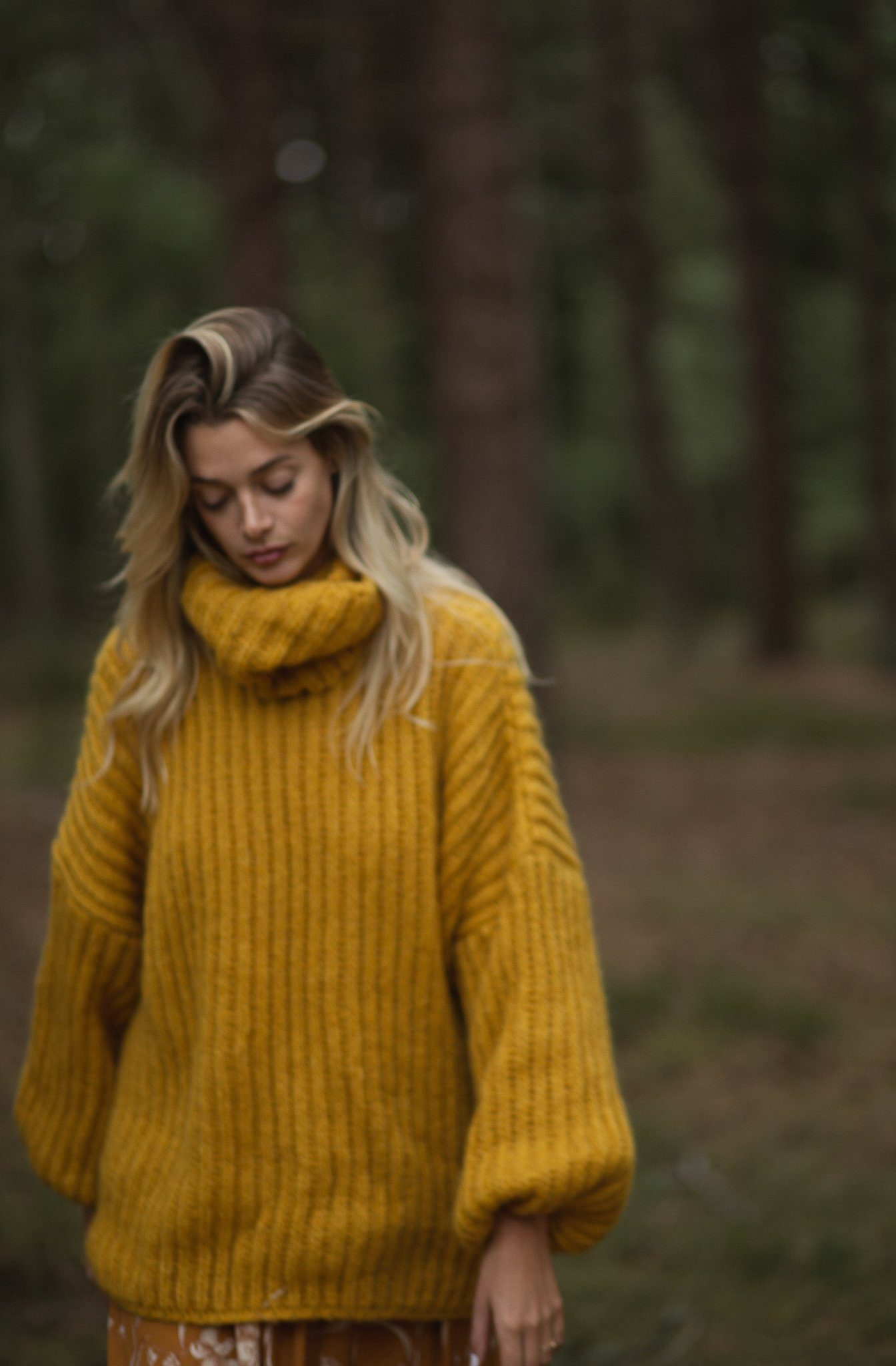 Annette Sweater - Mustard, [product_type]- Poppy Field the label