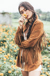 Poppy Field - BOHOCHIC LEATHER FRINGE SUEDE JACKET