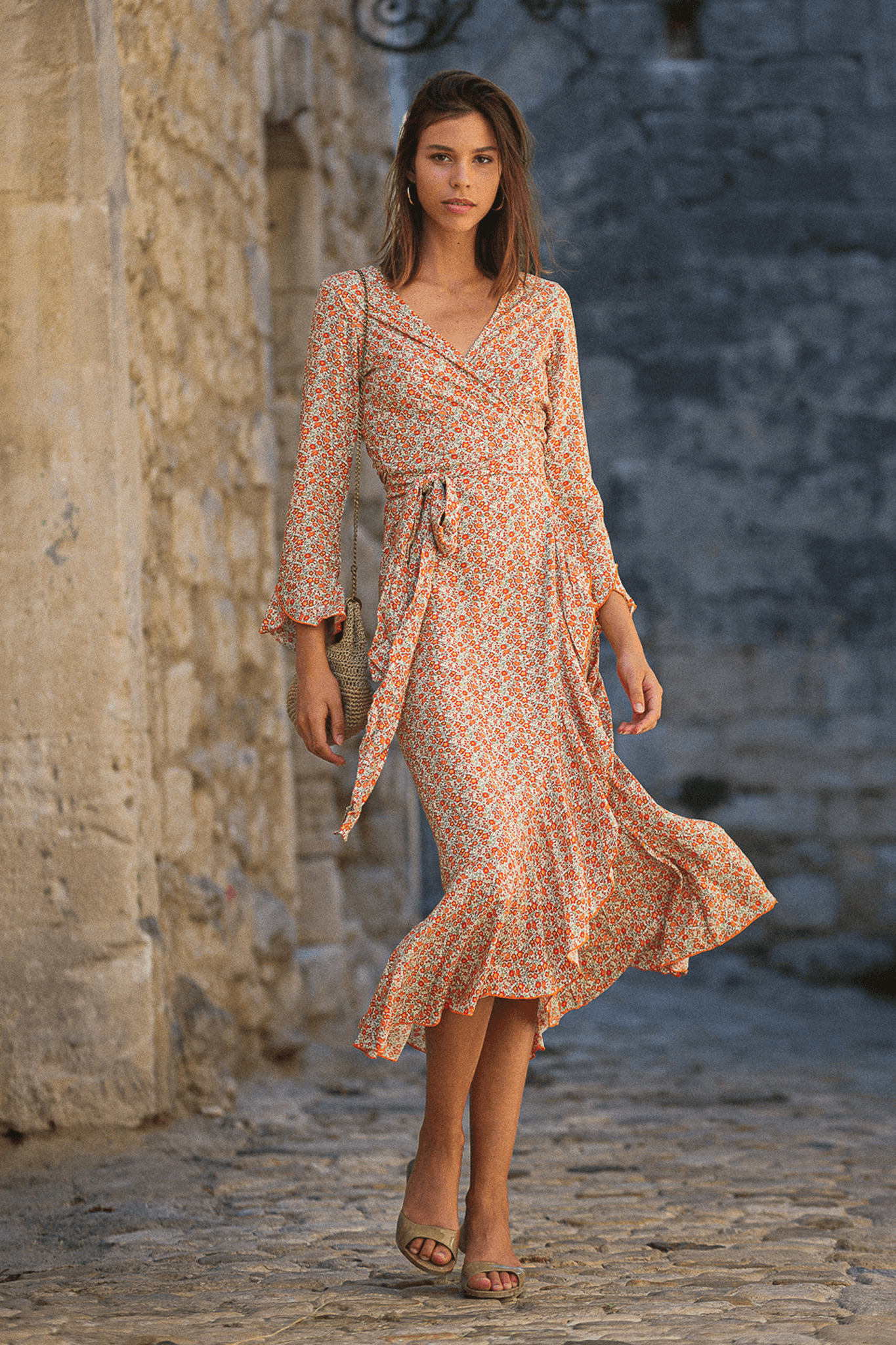 Robe Célia Maxi - Liberty Orange