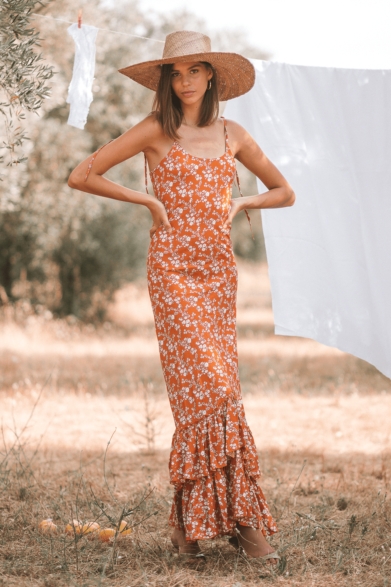 Adriana Maxi Dress - Poppy Ocre
