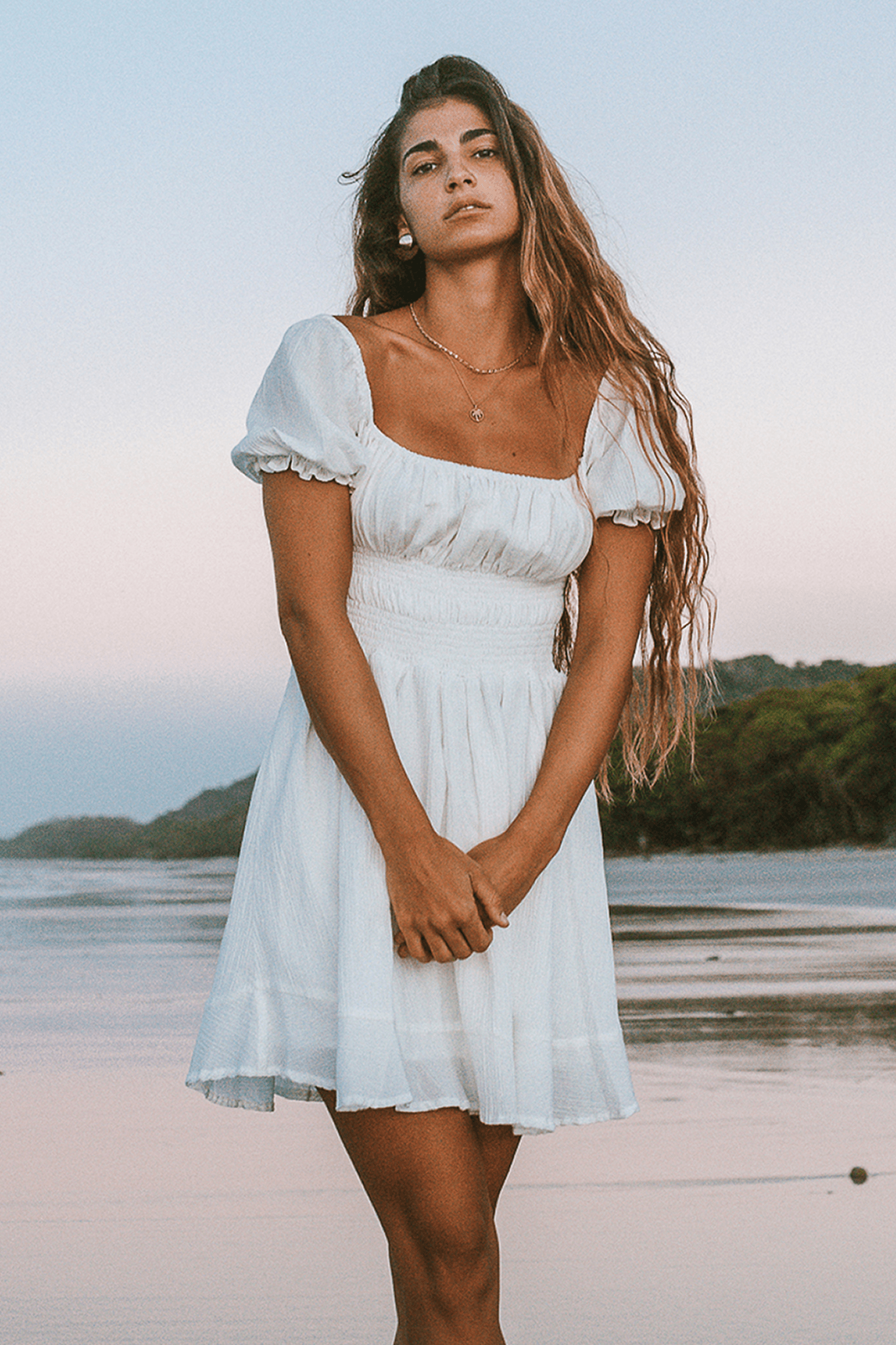Lusiana Mini Dress - Ivory