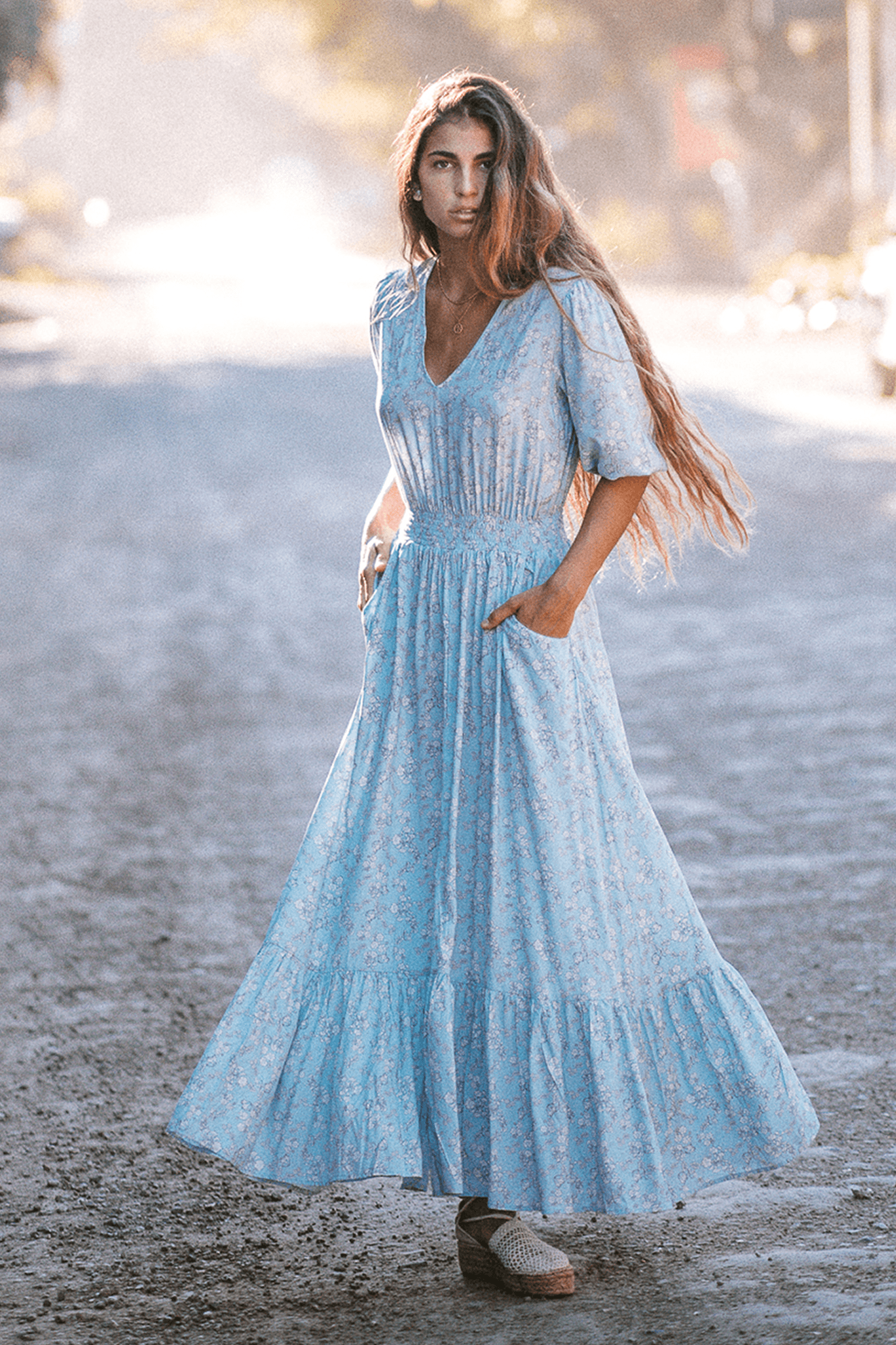 Laetizia Maxi Dress - Poppy Blue