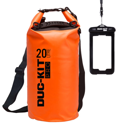 20 Litre Premium Dry Bag + Waterproof Smart Phone Case - Duc-Kit Pro