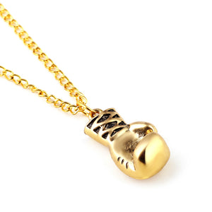 Boxing glove necklace pendant gold savage boxing glove necklace pendant aloadofball Images