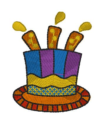 Cake hat - 3 candles