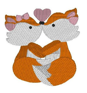 Foxy valentine - kissing