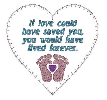 If Love Memory Heart - Baby feet