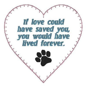 If Love Memory Heart - Paw print